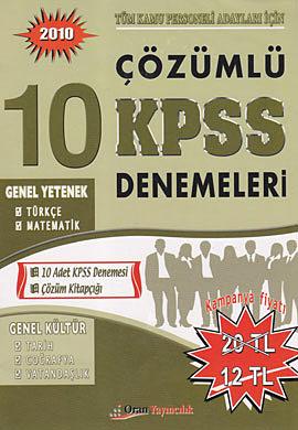2010 Çözümlü 10 KPSS Denemeleri