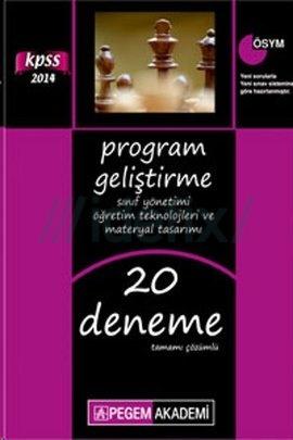 2014 KPSS Program Geliştirme, Sınıf Yönetimi, Öğretim Teknolojileri ve Materyal Tasarımı Tamamı Çözümlü 20 Deneme