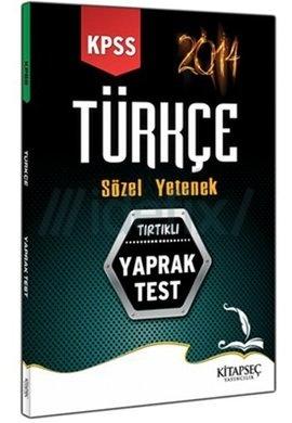 2014 KPSS Türkçe Yaprak Test