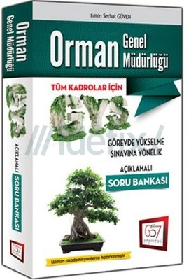 2016 GYS Orman Bakanlığı Genel Müdürlüğü Açıklamalı Soru Bankası