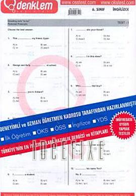 6. Sınıf İngilizce Yaprak Test