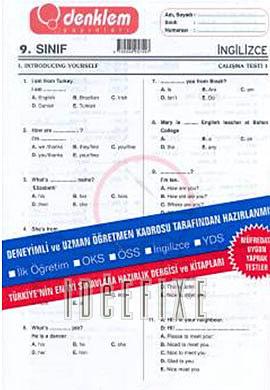 9. Sınıf İngilizce Yaprak Test