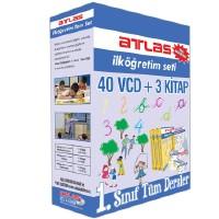 Atlas İlköğretim Seti: 1. Sınıf Tüm Dersler 40 VCD + 3 Kitap