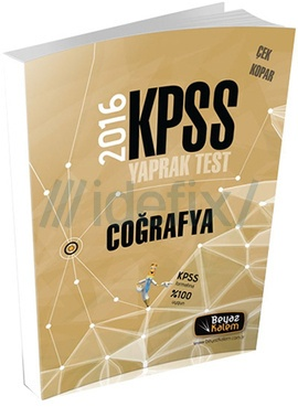 Beyaz Kalem 2016 KPSS Coğrafya Çek Kopar Yaprak Test