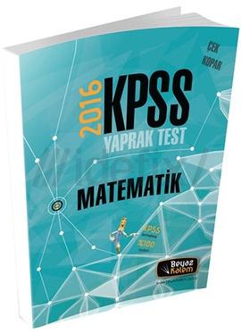 Beyaz Kalem 2016 KPSS Matematik Çek Kopar Yaprak Test