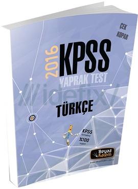 Beyaz Kalem 2016 KPSS Türkçe Çek Kopar Yaprak Test