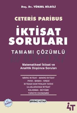 Ceteris Paribus İktisat Soruları Tamamı Çözümlü 2 Kitap Takım