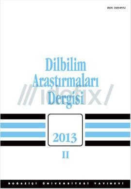 Dilbilim Araştırmarı 2013 / 2