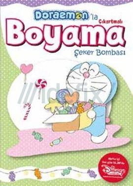 Doraemon'la Çıkartmalı Boyama Şeker Bombası