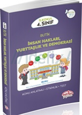 Editör 4.Sınıf Butik İnsan Hakları, Yurttaşlık ve Demokrasi