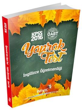 İhtiyaç ÖABT İngilizce Öğretmenliği Çek Kopart Yaprak Test 2016