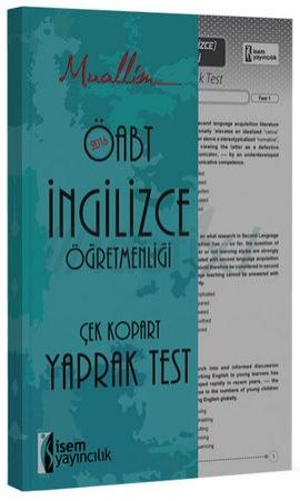 İsem Muallim ÖABT İngilizce Öğretmenliği Çek Kopar Yaprak Test 2016