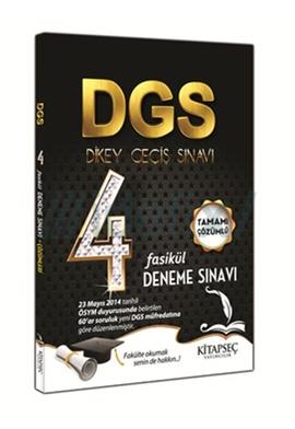 Kitapseç DGS Tamamı Çözümlü 4 Fasikül Deneme Sınavı 2014