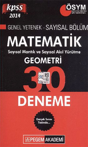 KPSS Genel Yetenek Matematik Geometri 30 Deneme
