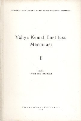 Yahya Kemal Enstitüsü Mecmuası 2. Cilt