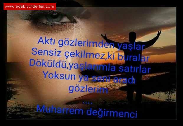 Sensizakti Gözlerim şiiri Muharrem Degırmencı şairine Ait