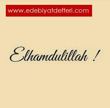 ELHAMDÜLİLLAH