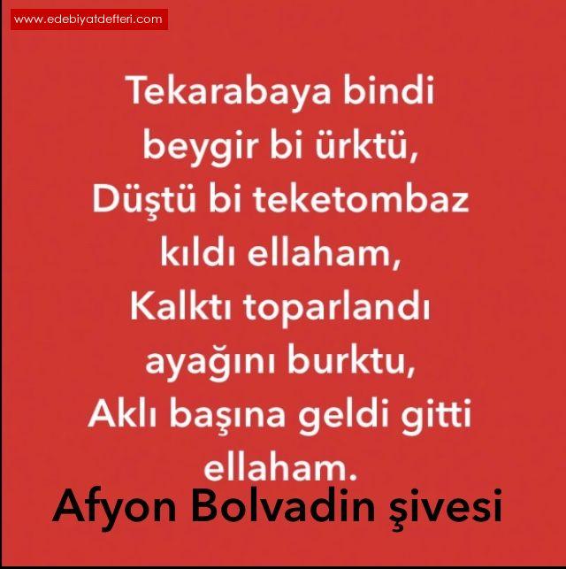 AFYON (Bolvadin) ŞİVESİ