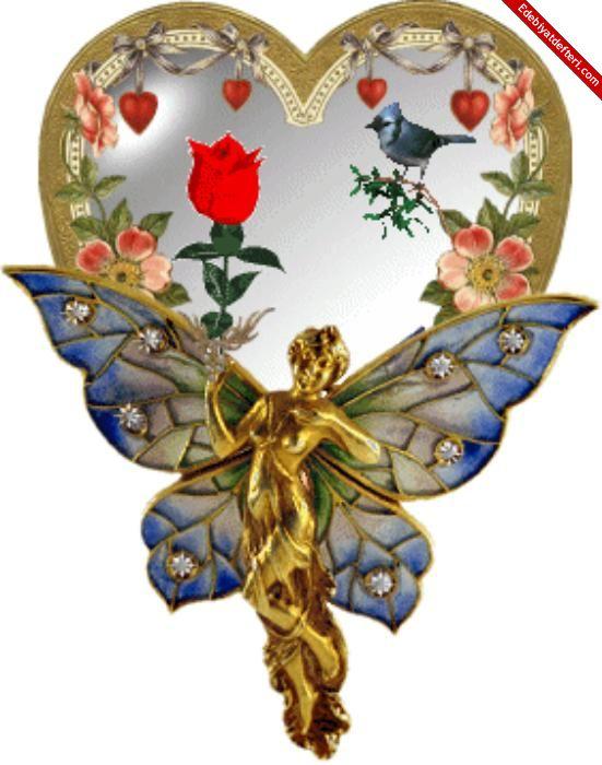 Открытки ангелов и сердец, картинки