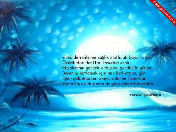SEVGİLİ YEĞENİM'E