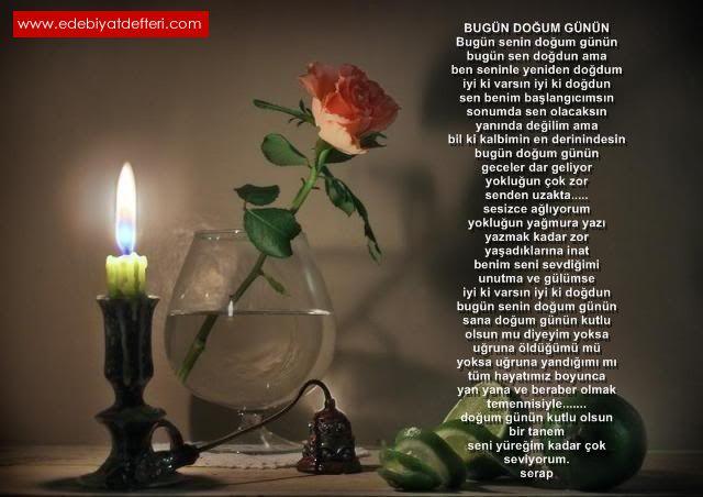 Bugün Doğum Günün şiiri Serap Evren şairine Ait şiirler Aşkın