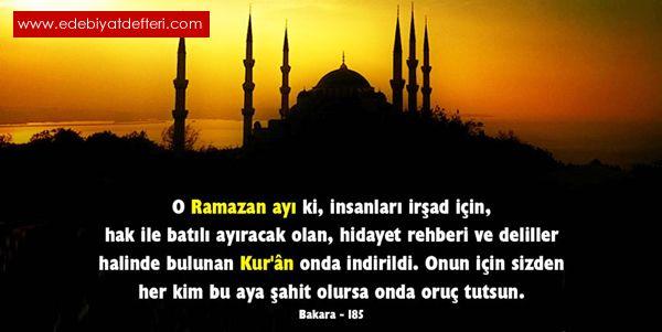 Ramazan Ayı Geldi şiiri Mehmet Aluc Kul Mehmet şairine Ait