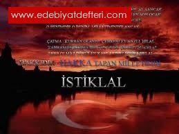 İSTİKLAL MARŞI ÜZERİNE