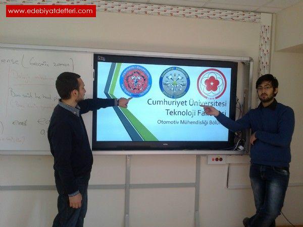 Cumhuriyet  Üniversitesi Otomotiv Kulübü Başkanı  Umut Akkaya ile..