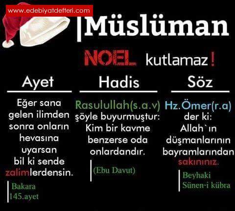 Noel Baba yılbaşı melaneti-İslam dininde teşebbüh...