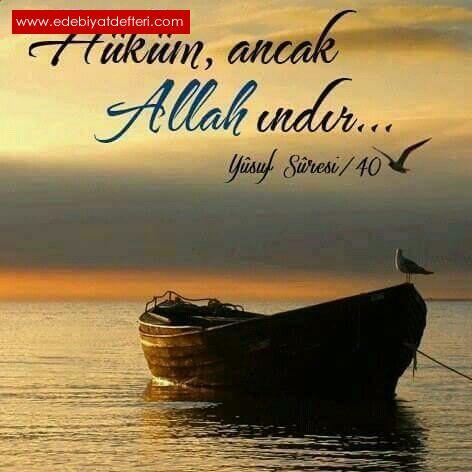 Hüküm Allah'ındır