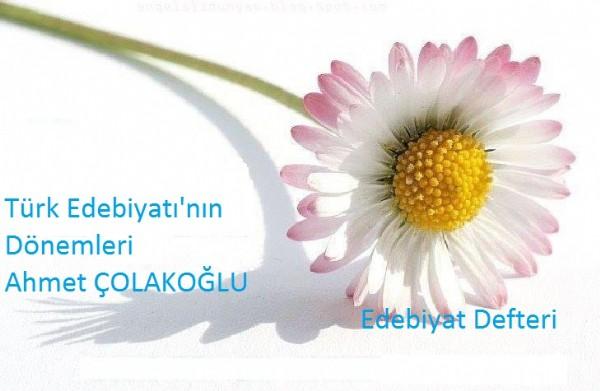 TÜRK EDEBİYATI'NIN DÖNEMLERİ